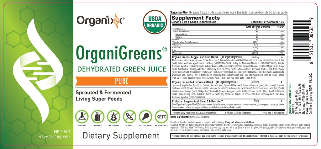 Organixx Organigreens Review - Read Its Supplement Facts!