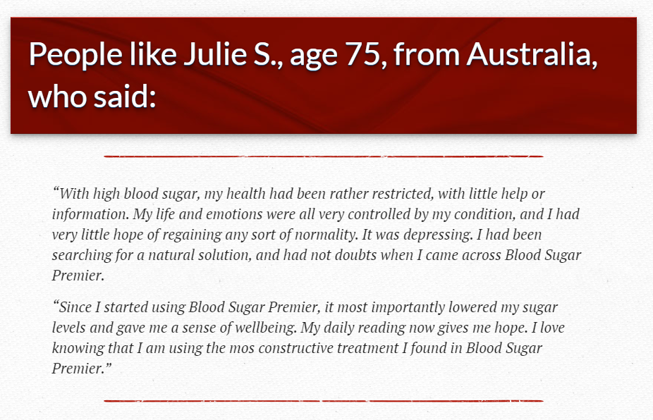 Blood Sugar Premier Testimonials - Any Users Complaints? Read