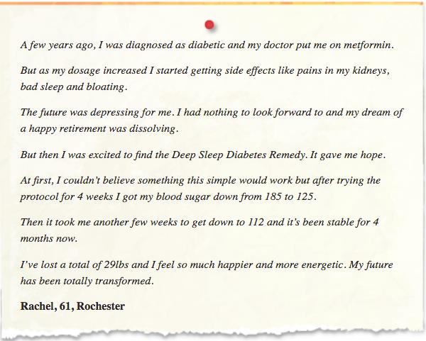 Deep Sleep Diabetes Remedy Testimonials