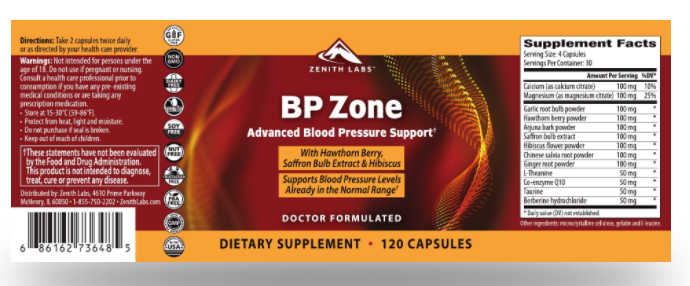 Zenith Labs BP Zone Advanced Formula - Ingredients Have Any Side Effects?