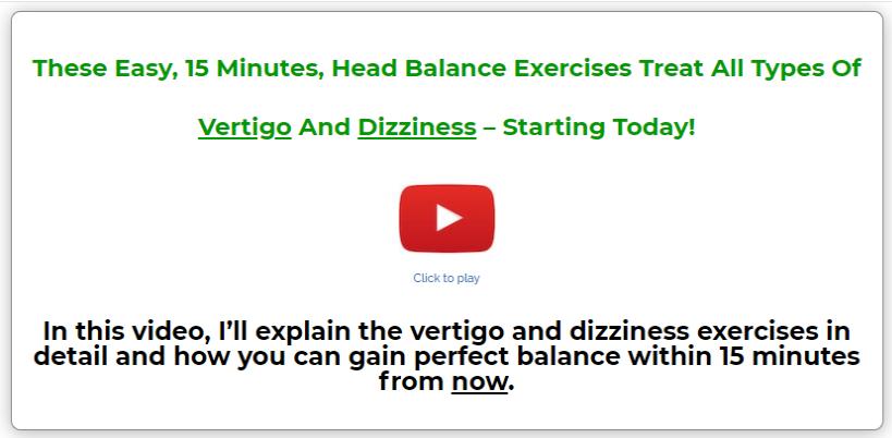 The Vertigo and Dizziness Program Review - Get Rid of Vertigo and Dizziness