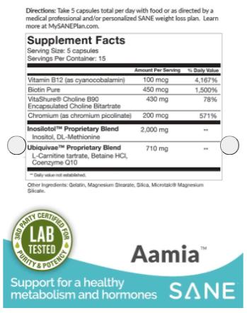 Sane Laboratories Aamia Ingredients List