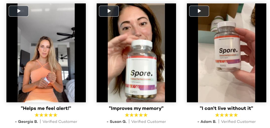 Spore's Focus Performance Dietary Supplement