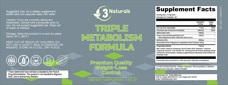 Triple Metabolism Formula Ingredients