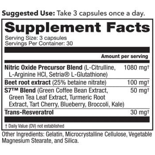 Nitric Oxide Blood Flow-7 Ingredients