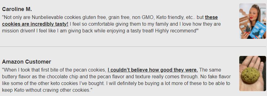 Nunbelievable Pecan Sandy Cookies Customer Reviews